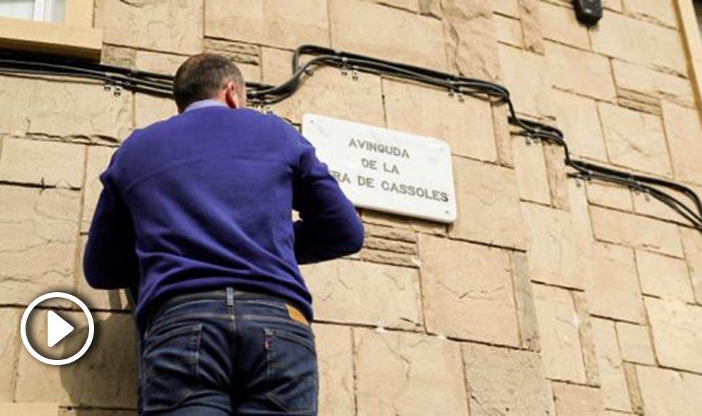 Avenida  Riera de Cassoles.   Foto: Europa press