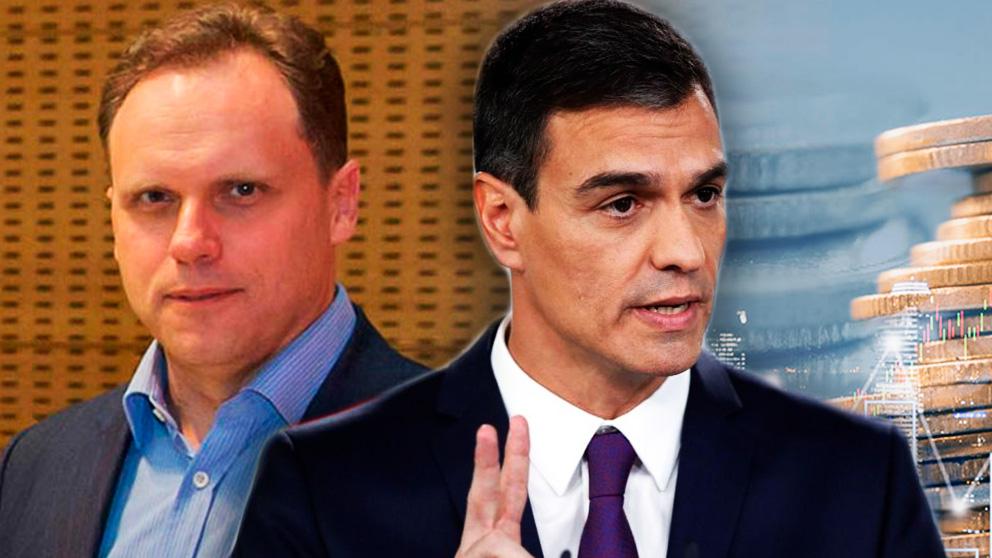 El economista Daniel Lacalle y el presidente del Gobierno, Pedro Sánchez.