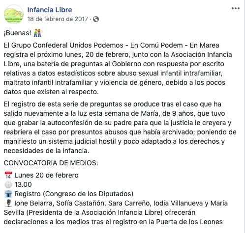 La detenida por secuestrar a su hijo asesoró a Podemos en medidas contra la violencia infantil