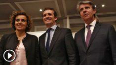 Montserrat, Casado y Garrido. Foto: Europa Press