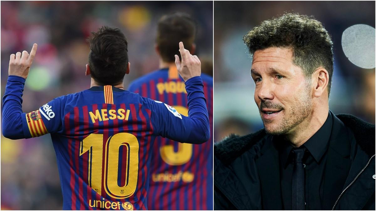 Messi y Simeone, en fotos recientes (Getty).