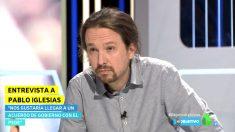 Pablo Iglesias en el programa 'El Objetivo' de La Sexta.