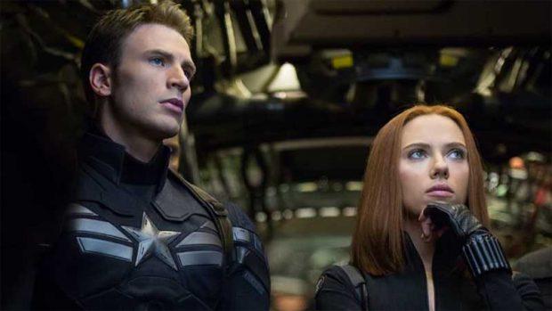 Steve y Natasha en 'El soldado de invierno'
