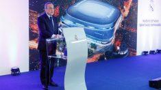 Florentino Pérez, durante la presentación del nuevo Bernabéu. (EFE)