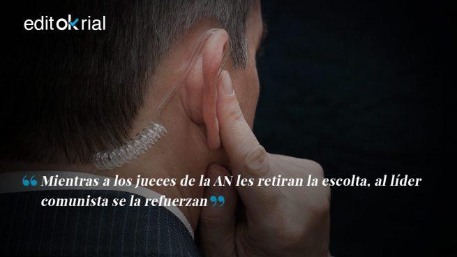 ¿La escolta del Rey? No, la escolta de Pablo Iglesias