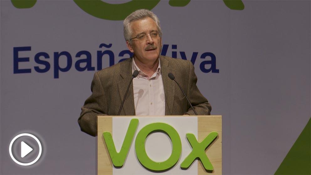 José Antonio Ortega Lara en un acto de VOX en Logroño.