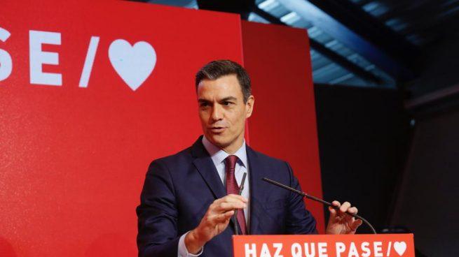 Sánchez, este martes, durante la presentación de la campaña electoral