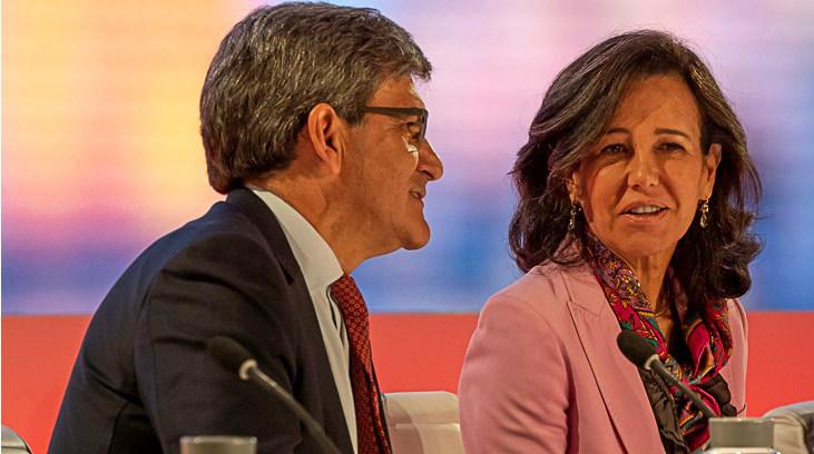 José Antonio Álvarez y Ana Botín en el Investors Day