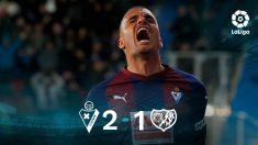 El Eibar gana al Rayo Vallecano.