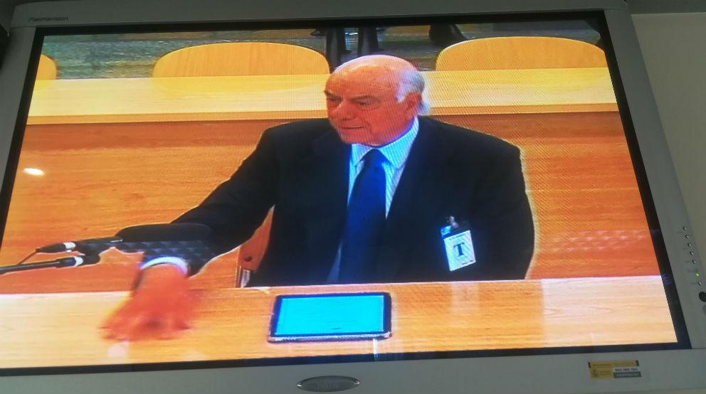 Francisco González, expresidente de BBVA, en el juicio de Bankia (foto: Mario Moratalla)