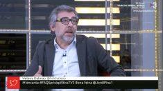 Jordi Pina, el abogado de Jordi Turull, Josep Rull y Jordi Sànchez, durante su intervención en el programa 'Pregunes Freqüents' de TV3