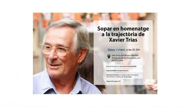 El PDeCAT le monta un homenaje al corrupto Trías esta noche… a 60 euros el cubierto