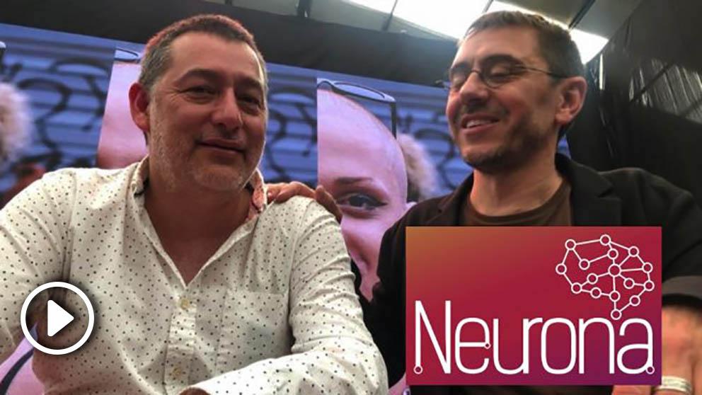 El director de Neurona Consulting con Juan Carlos Monedero.