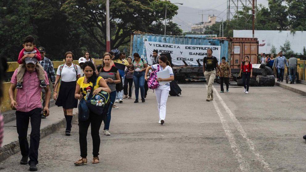 Inmigración de Venezuela. Foto. Getty