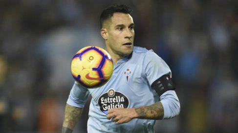 Hugo Mallo, capitán del Celta (AFP)