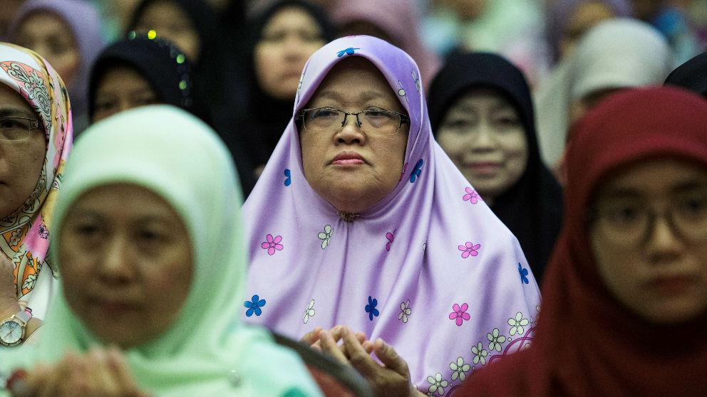 Mujeres musulmanas con 'hiyab'.