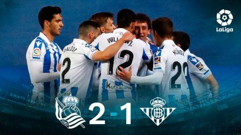 La Real Sociedad se impuso al Betis en Anoeta (2-1).