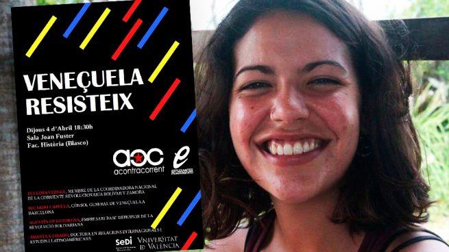 La asociación de una candidata de Podemos por Valencia hace de altavoz de Maduro en España