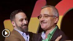 El líder de Vox, Santiago Abascal, junto a Ortega Lara, secuestrado por ETA.