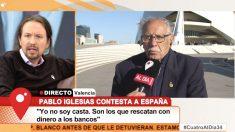 Pablo Iglesias durante su entrevista a 'Cuatro al día'