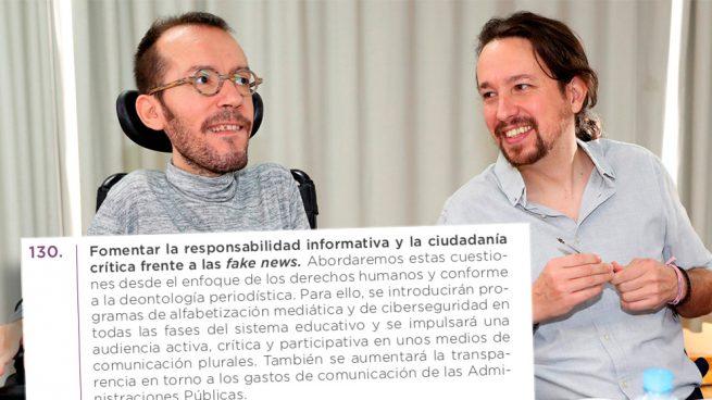 Podemos propone al PSOE un plan para adoctrinar a los niños en los colegios contra la prensa crítica