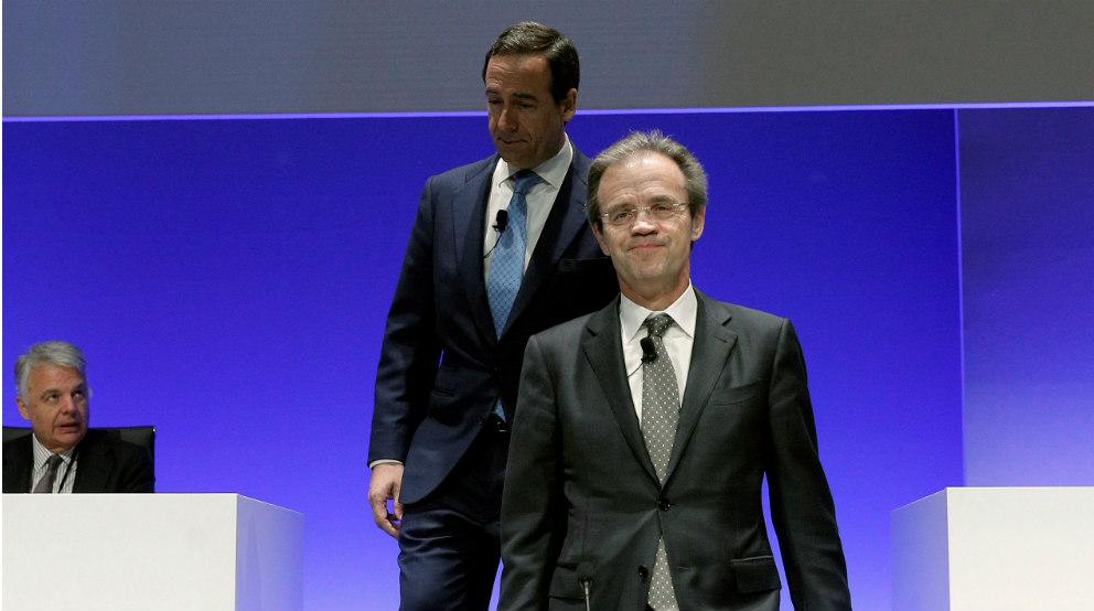 Gortázar y Jordi Gual (Caixabank)