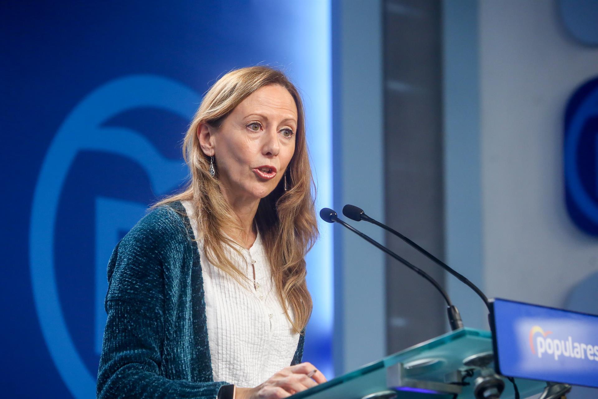 Marta González, vicesecretaria del PP. Foto. EP