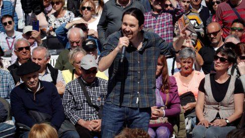Iglesias, el pasado 30 de marzo en Pamplona