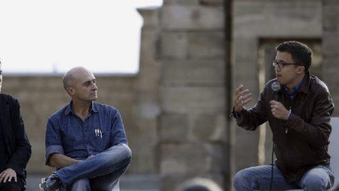 Pepe Viyuela en un acto de Podemos con Íñigo Errejón.