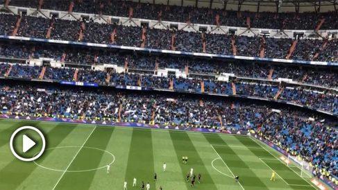 El Santiago Bernabéu pitó a los futbolistas del Real Madrid.