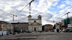 Reconstrucción de la localidad italiana L'Aquila tras el fuerte seísmo.