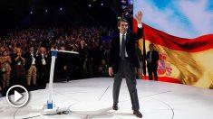 El expresidente del Gobierno y presidente de la Fundación FAES, José María Aznar, durante la segunda jornada de la Convención Nacional del Partido Popular que se celebra hasta mañana domingo en el Recinto Ferial IFEMA de Madrid. Foto: EFE