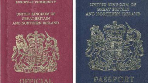 El viejo y el nuevo pasaporte británico