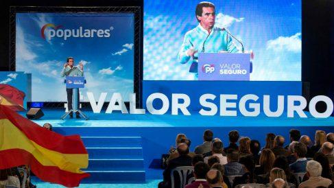 José María Aznar en el acto celebrado en Murcia