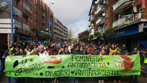 Manifestación feminista en Leganés.