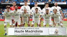 La alineación del Real Madrid contra el Eibar.
