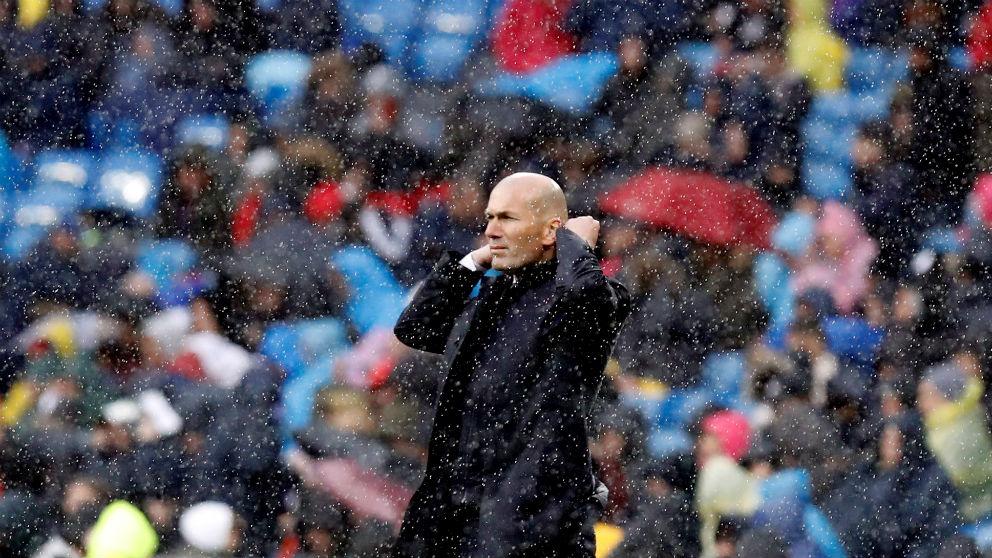 Zidane, durante un partido. (EFE)