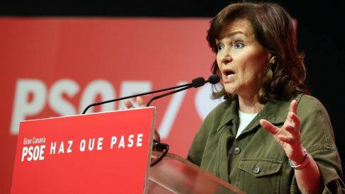 La vicepresidenta del Gobierno y secretaria federal de Igualdad del PSOE, Carmen Calvo. (Foto: EFE/Elvira Urquijo)