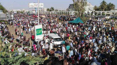Imagen de las protestas en Jartum