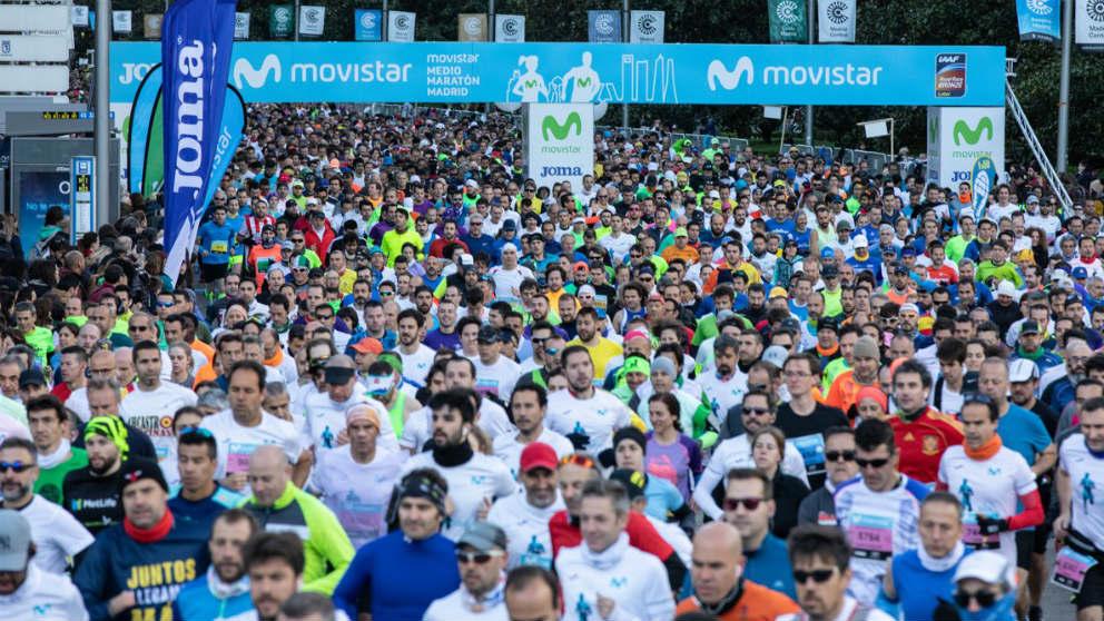 El Medio Maratón de Madrid congregó a más de 20.000 corredores.