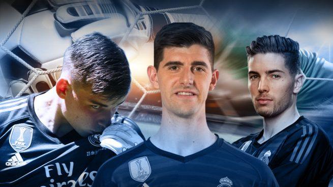 Zidane ya ha elegido sus tres porteros: Courtois, Lunin y Luca