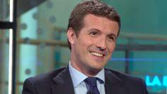 Pablo Casado, en un momento de la entrevista en Antena 3.