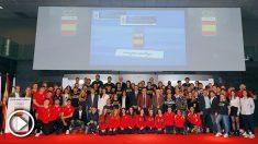 La foto de familia del deporte español en la sede del Comité Olímpico Español.