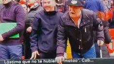 Aficionados del Rayo insultando a Marcelino en Vallecas (#Vamos)