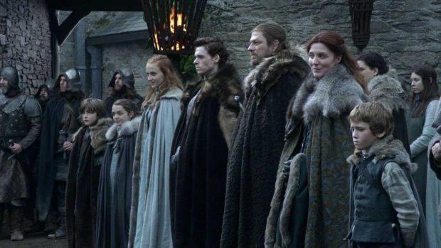 La familia Stark en el primer capítulo