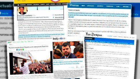 Alguna de las noticias sobre los vínculos de Podemos y Neurona.