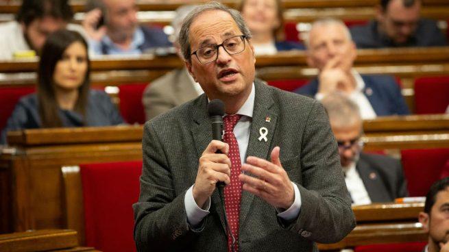 Torra replica que habla casi cada día con Puigdemont pero que «Cataluña se dirige desde la Generalitat»