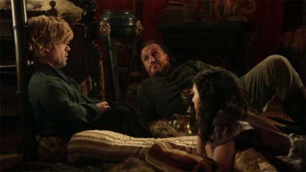 Tyrion con Bronn y Shae