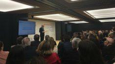 Ignacio Garralda, presidente de la Fundación Mutua Madrileña durante la presentación del acto celebrado este lunes