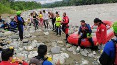 Equipos de rescate de bomberos de Ecuador. Foto Europa Press